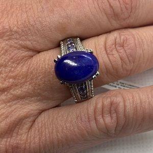 Lapis Lazuli, Simulated Purple Diamond